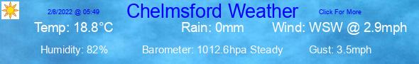 Chelmsford Weather - Chelmer Village
